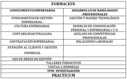 """Plan de Estudio de Programa Empresa """"Máster en Prestación de Servicios Empresariales"""""""