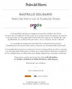 Rastrillo Solidario Prodis - Pedro del Hierro