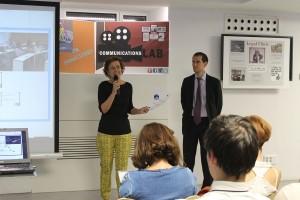 Soledad Herreros de Tejeda, Presidenta de la Fundación Prodis y Pablo Rodríguez durante la presentación del estudio.